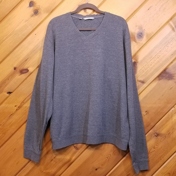 Cutter and Buck Sweater Gray Pull Over Long Sleeve